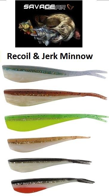 LB jerk minnow & Recoil (Lösa jiggkroppar för vertical & dropshot)