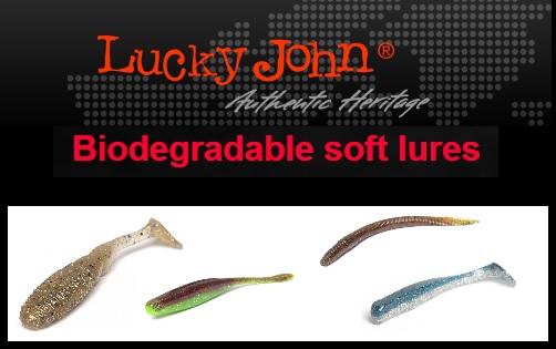 Lucky John jiggar med inbyggd lukt o smak! Biologiskt nedbrytbara!